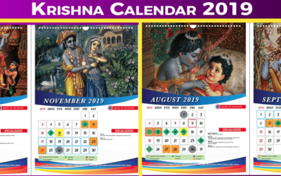 Krishna Desk & Wall Calendar 2019